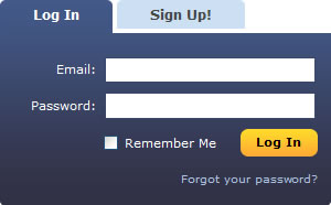 MySpace login form